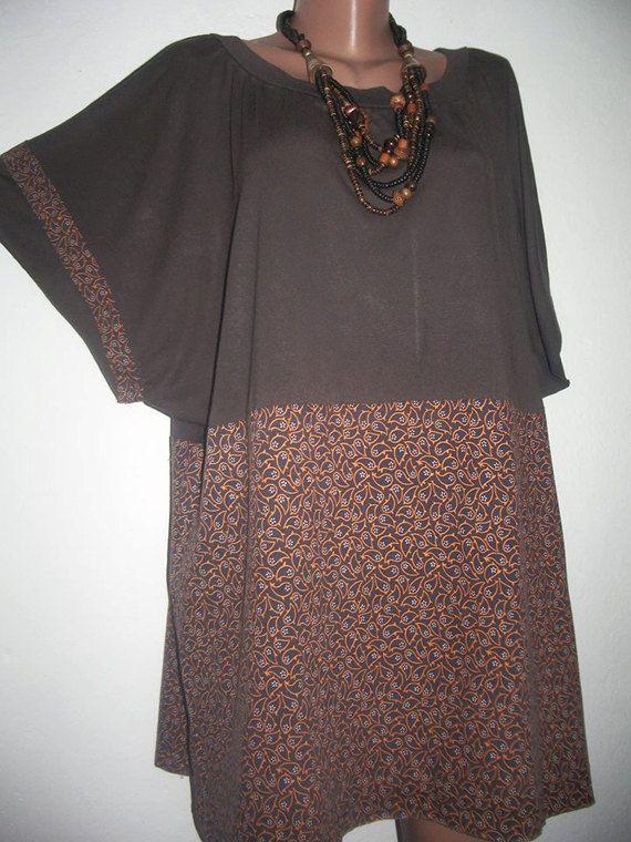 Boho Tunic Plus Size Tunic Cotton Tunic Oversized by PlusStyle
