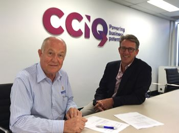 CCIQ Brisbane West Chamber President Ian Kilpatrick (pictured left) and our CEO, Stephen Tait http://cciq.com.au