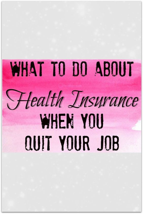 It makes sense; you need to have a plan for what to do about health insurance when you quit your job.