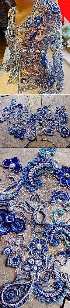 Irish crochet &: Реплика Виты Сениной. Ирландия. Много фото.