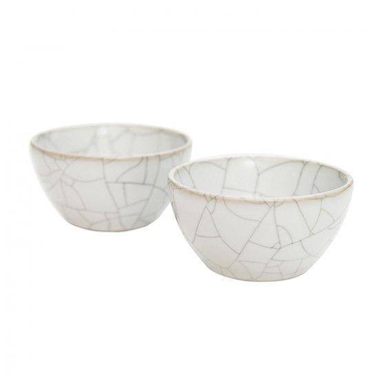 MONOQI   2er-Set Teeschalen - Weiß