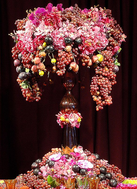 Wow fruit floral arrangement flower arrangement Floral arrangements with fruit