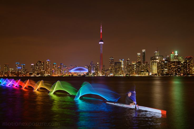 Extraordinary New Light Paintings Capture Colorful Movements of Kayaks and Canoes