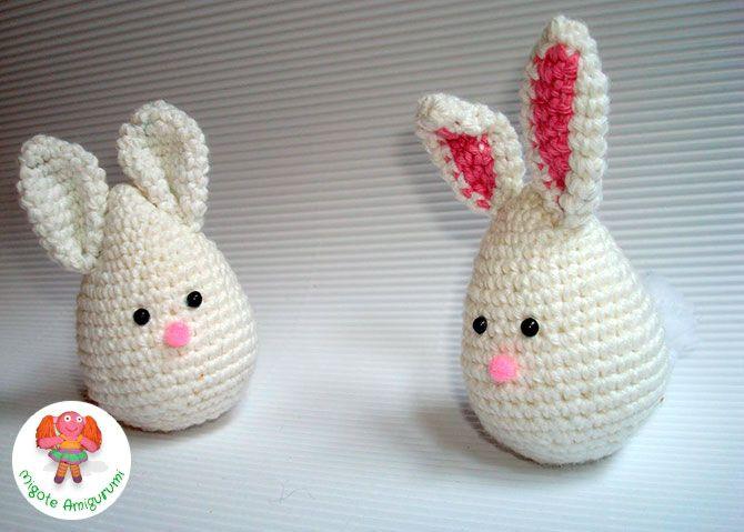 Conejo de Pascua en ganchillo - Migote Amigurumi PATRONES EN CASTELLANO DE VARIOS JUGUETES