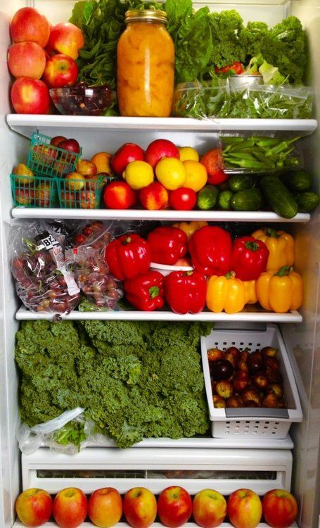 This is what a fridge should look like– which veggies and fruit go in the fridge and which don't? ✰