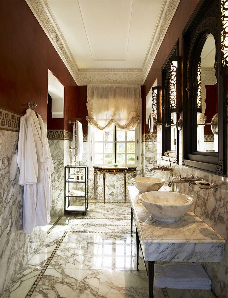 Bathroom of Guestroom in the La Mamounia Hotel, Marrakech, Morocco
