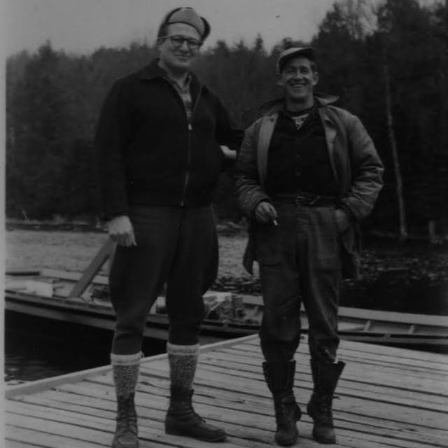 Throwing it WAY back on this #TBT to the founders of @camp_tamakwa Unca Lou and Omer Stringer! So rare and special to have a photo of these two together!!! #TamakwaTBT #TamakwaSpirit #SummerCamp