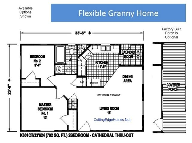 Granny pods floor plans granny flat residential plans for Granny cottage plans