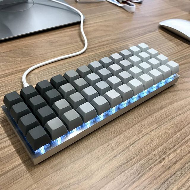 Reckon you could get by with blank keycaps or an ortholinear layout