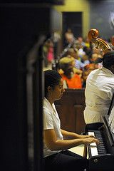 Sim1, the pianist in the Immaculate Conception High School Orchestra.
