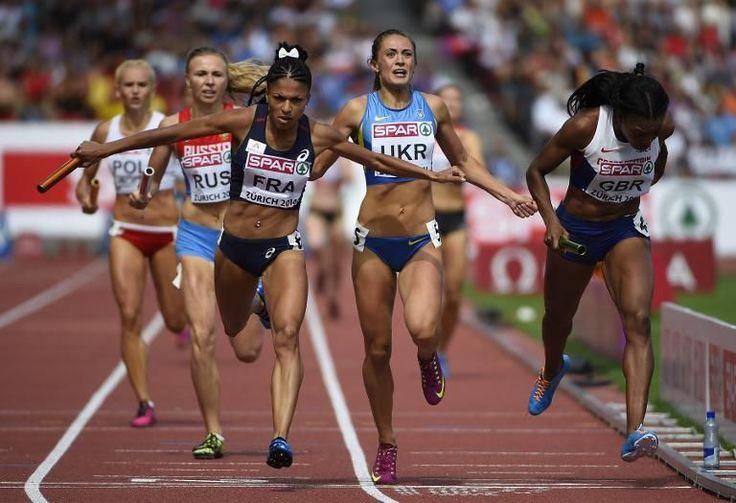 Exceptionnel relais féminin français du 4 fois 400 mètres au championnat d'Europe d'athlétisme !