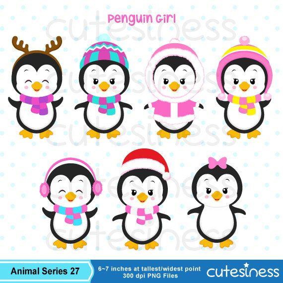 penguin digital clip art set instant download clip art. Black Bedroom Furniture Sets. Home Design Ideas