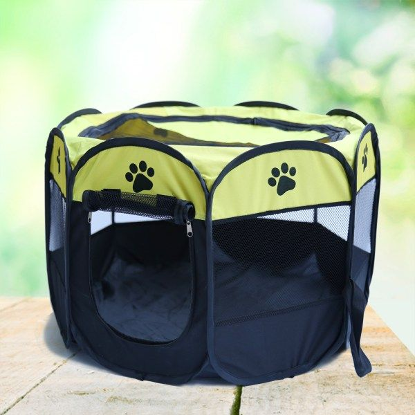 Extra Large Foldable Pet Tent Playpen | knittedPaws | Price: $33.39 + FREE Shipping     #dog #puppy #bed #cat #pet #foldable #tent #playpen #travel