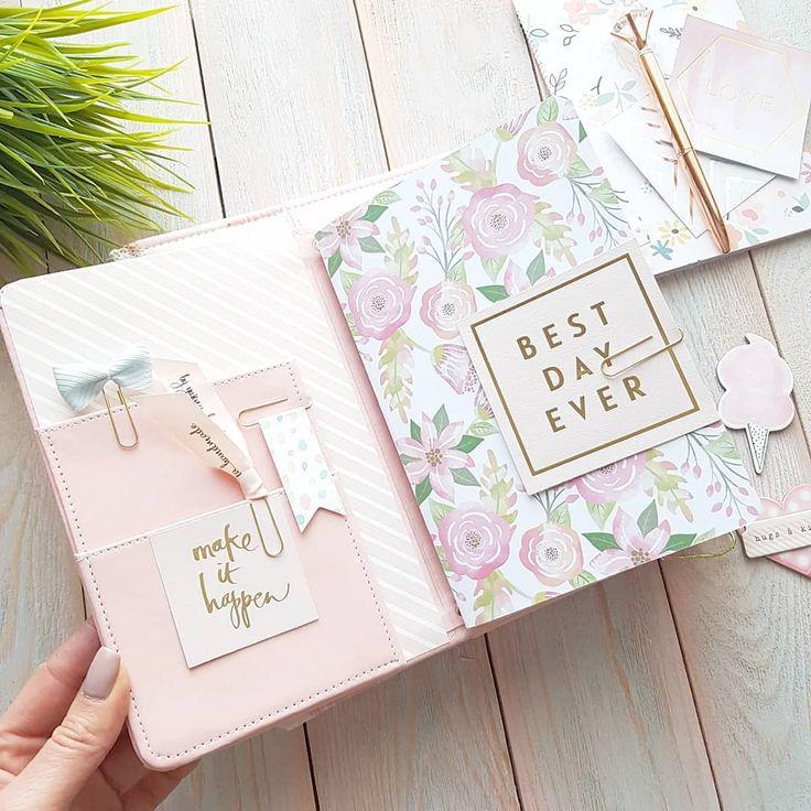 Pink powder Travel book.