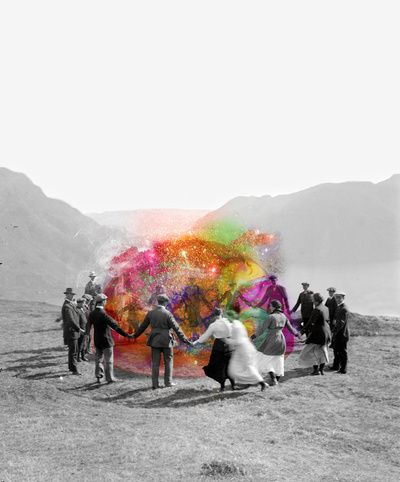 color in a colorless world: Black N White, Hold Hands, The Artists, Color, Quote, Wonder Places, Photo Manipulation, Mixed Media, Be Human