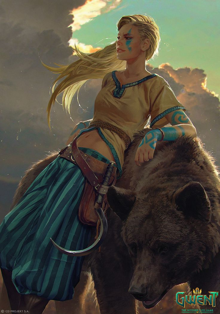 Gedyneith Flaminica - Gwent Card, Anna Podedworna on ArtStation at https://www.artstation.com/artwork/1D1e2