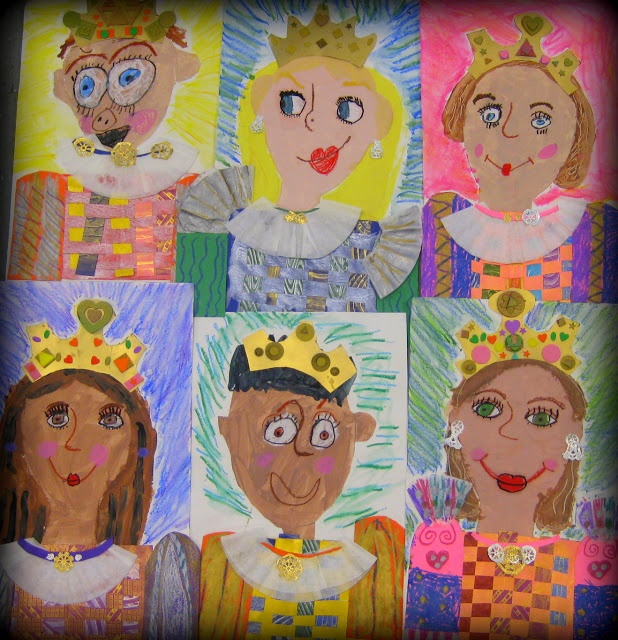 Cassie Stephens: In the Art Room: Royal First Graders