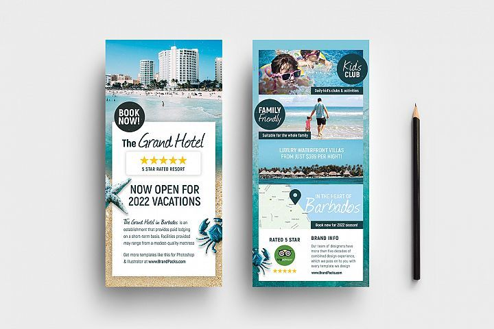 Travel Hotel Rack Card Template 356156 Flyers Design Bundles