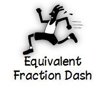 Math Coach's Corner: Equivalent Fraction Dash card game