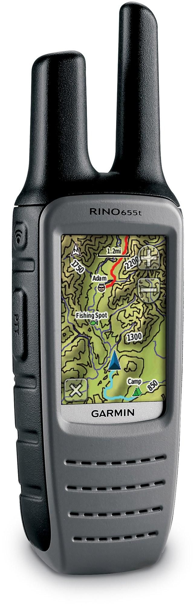 GPS with TOPO maps, FRS/GMRS radio, altimeter, compass, weather radio and digital camera in 1 device! Garmin Rino 655t GPS/2-Way Radio. #REIGifts