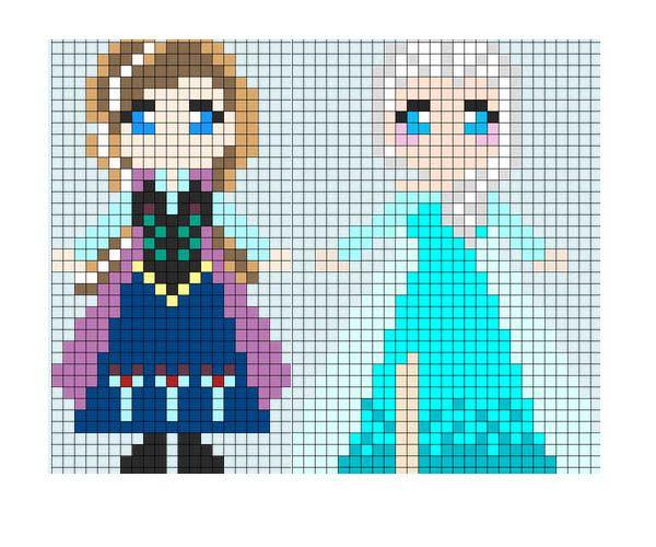 Hama beads plantillas gratis de princesas | Actividades para niños | Mismocosos.com