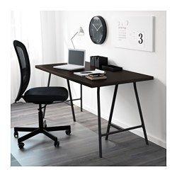 IKEA - LINNMON / LERBERG, Table, black-brown/gray, , Pre-drilled leg holes for easy assembly.