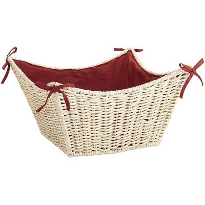 Fabric-Lined Maize Baskets.  Pretty!