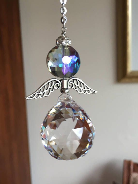 Crystal Glass Angel Prism Window Hanging Ornament Spiritual Etsy In 2020 Crystal Suncatchers Asfour Crystal Hanging Ornaments