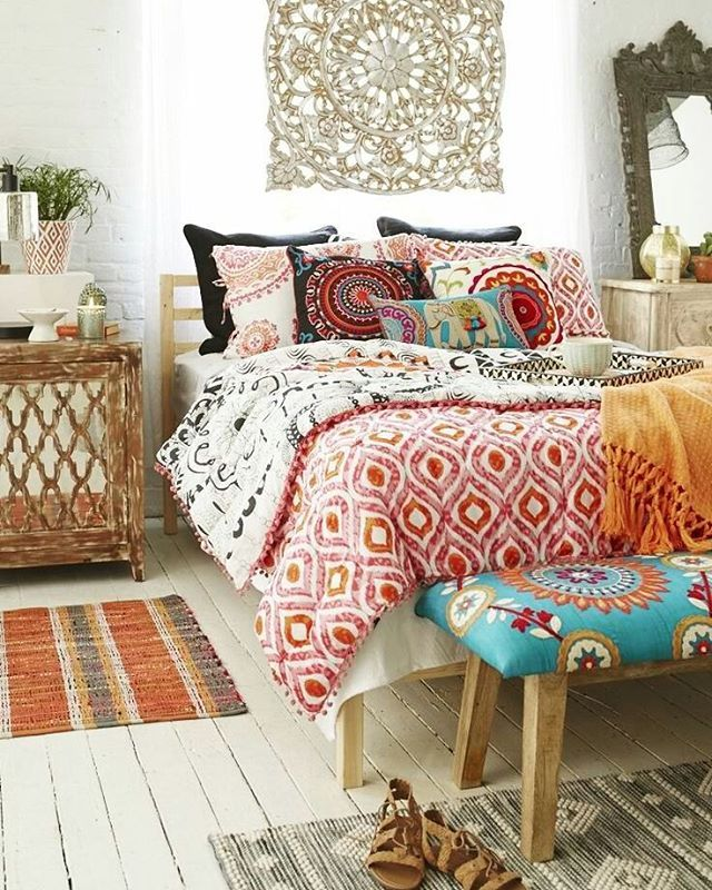 Inspired by street markets across the globe and the free-spirited flair of the  70s •  by homegoods.com #bohemiandecor