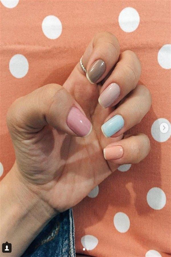 Top 33 Multi Colored Nail Art Design Ideas Fashion Nails