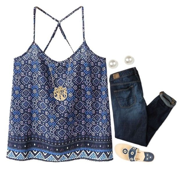 """""""{new layout, do y'all like it?}"""" by preppy-southern-girl-1-2-3 ❤ liked on Polyvore featuring American Eagle Outfitters, WithChic, Jack Rogers, Moon and Lola and claire's"""
