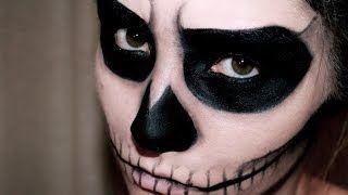 skeleton face makeup tutorial - YouTube