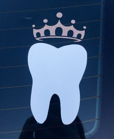 Tooth & Crown Decal – Thad & Lola's
