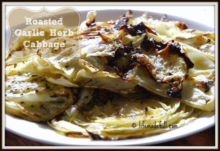 Roasted Garlic Herb Cabbage - Life Made Full