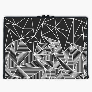 'Bella Rays' Laptop Sleeve By Fimbis | Snupped #abstract #stripes #blackandwhite #macbook #macbookpro #Lenovo #fashion #black #monochrome