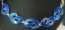 Superb Norwegian Silver and Blue Enamel Bracelet - Ivar Holt Norway