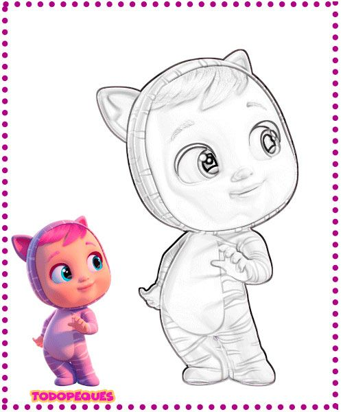 Dibujos De Bebes Llorones Para Colorear Todo Peques Baby Crying Baby Deco Cry Baby