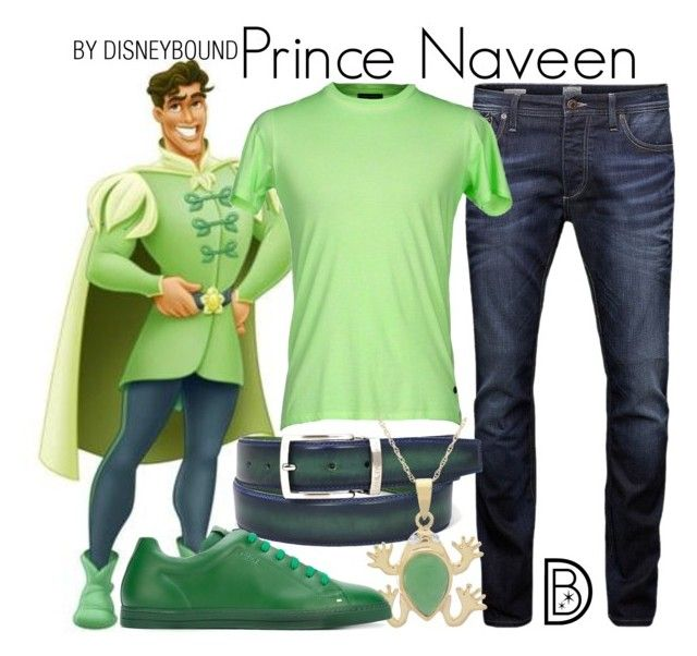 """Prince Naveen"" by leslieakay ❤ liked on Polyvore featuring Jack & Jones, Surface To Air, Fendi, disney, disneybound and disneycharacter"