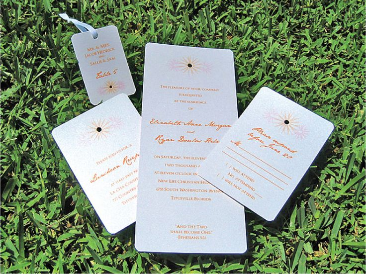 Escort cards can double as favor tags, as well, ensuring that each guests receives their favor.  Two birds, one stone.