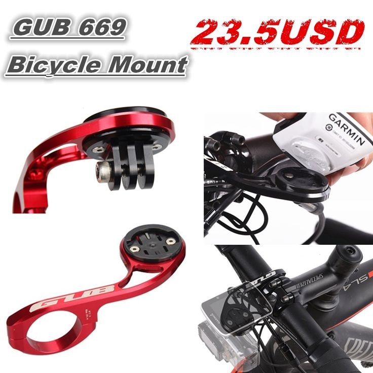21.02$  Watch now - http://alizmk.shopchina.info/go.php?t=32788155999 - 2017 GUB 669 CNC Cycle Computerholder bicycle computer holder GoPro camera support fit for GARMIN/CATEYE bike computer 21.02$ #buyininternet