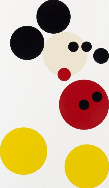 Damien Hirst's spot rendering of Mickey Mouse, 2012.