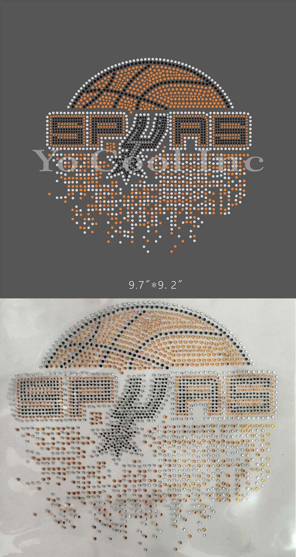 San Antonio Spurs Basketball Iron On Rhinestone Design For Shirt Strass Transfer