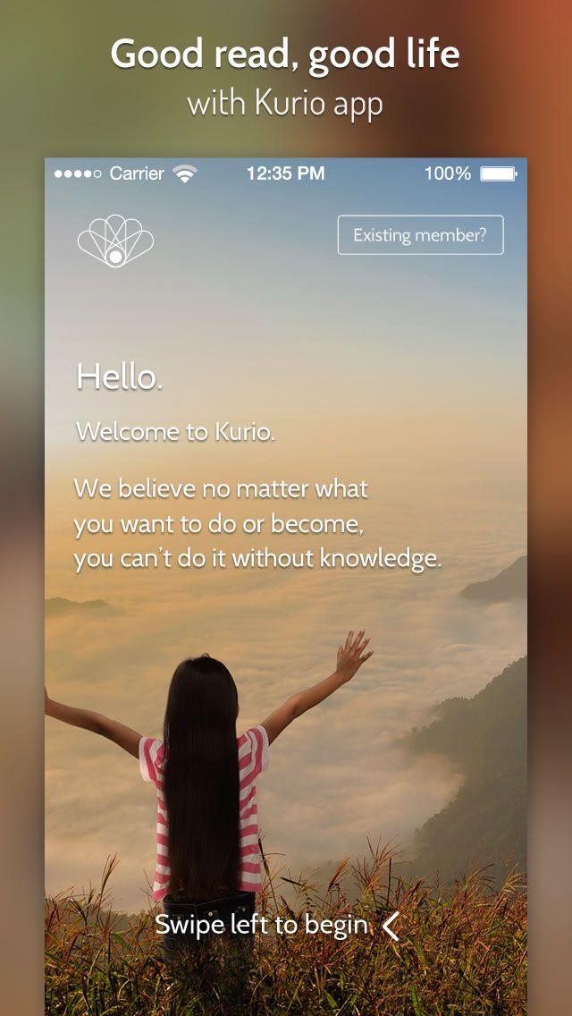 Kurio apps Splash Screen