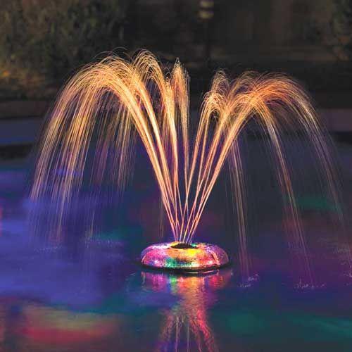 Fontaine lumineuse flottante pour piscine piscine for Fontaine piscine