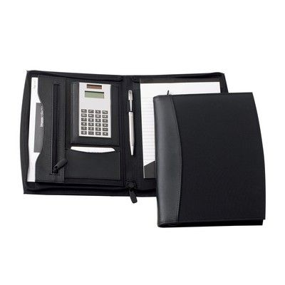 Madison Leather A5 Zippered Compendium Min 25 - Bags - Compendiums - IC-D8901 - Best Value Promotional items including Promotional Merchandise, Printed T shirts, Promotional Mugs, Promotional Clothing and Corporate Gifts from PROMOSXCHAGE - Melbourne, Sydney, Brisbane - Call 1800 PROMOS (776 667)