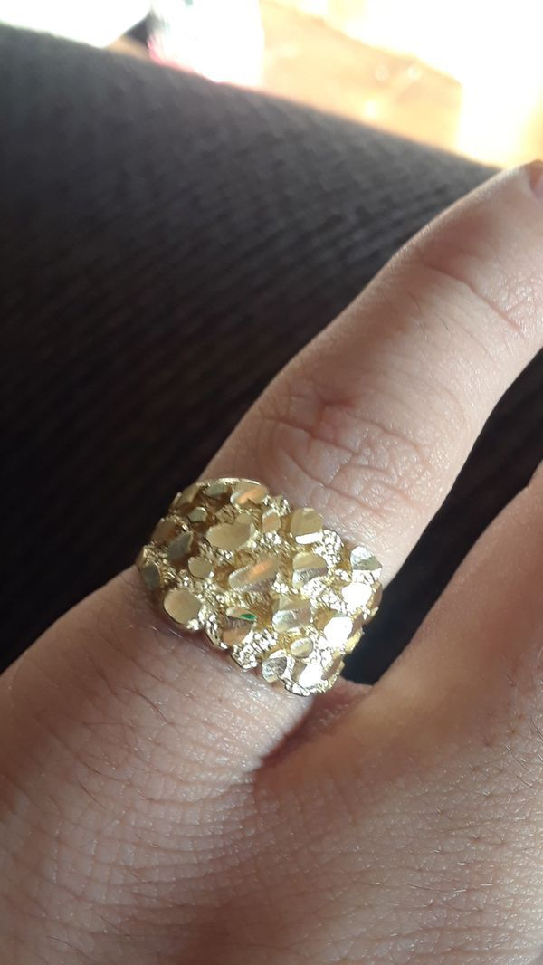 10k Gold Nugget Ring Size 6 5 Gold Nugget Ring Jewelry Accessories Jewelry