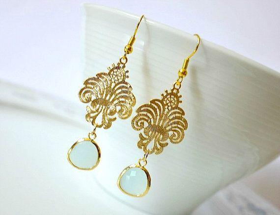 Marokkanische Ohrringe Gold filigran. Ohrringe von von GerberaFleur