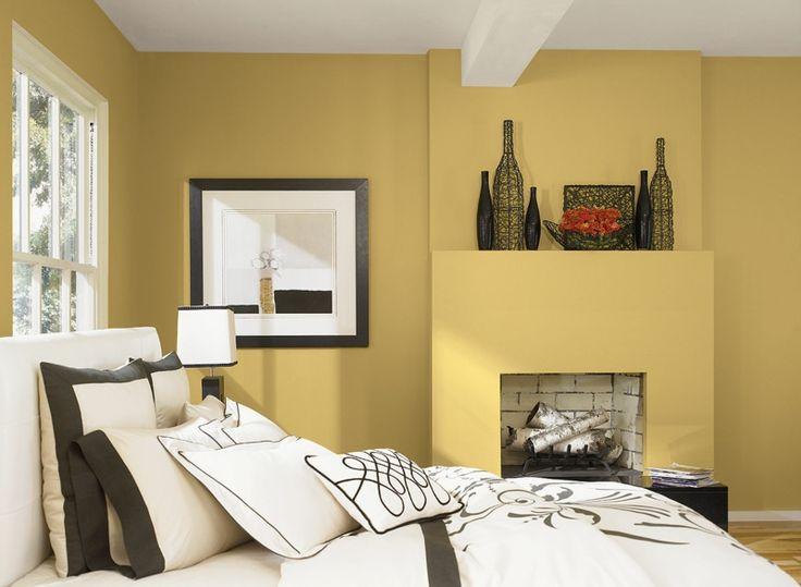 Farbe fürs schlafzimmer  Die besten 25+ Gelbes Schlafzimmer Ideen auf Pinterest | Gelbe ...