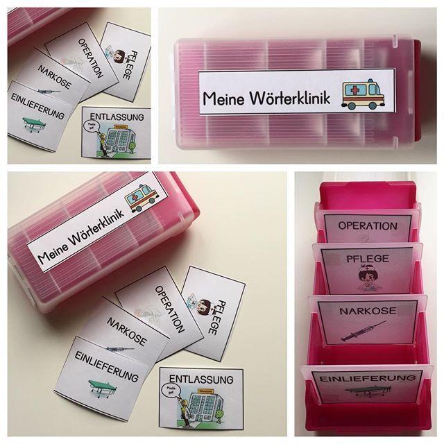 """Demnächst habe ich vor die """"Wörterklinik"""" einzuführen ! Ich möchte, dass die Kinder Lernwörter und persönlich relevante Fehlerwörter methodisch verinnerlichen! Habt ihr schon Erfahrung mit der """"Wörterklinik"""" sammeln können?!  (Die Op kommt natürlich vor der Pflege...Da hat sich beim einsortieren ein kleiner Fehler eingeschlichen!) #wörterklinik #Deutschunterricht #zweiteklasse #wörterrichtigschreiben #rechtschreibung #grundschulideen #grundschullehrerin #grundschule #froileinskunte"""