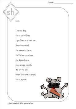 {DIGRAPH POEMS} {DIGRAPH FLUENCY PASSAGES} {ch, sh, th, wh